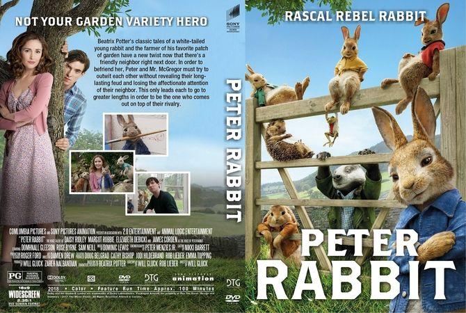 Peter Rabbit (2018) DVD Custom Cover | Custom DVD Cover