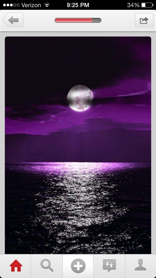 Moon over purpleness