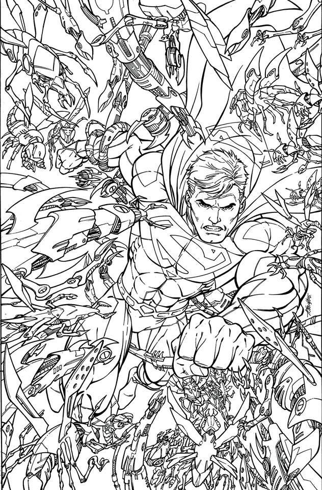 DC Comics Adult Coloring Book Variant Covers | Capital Comic | Adult ...