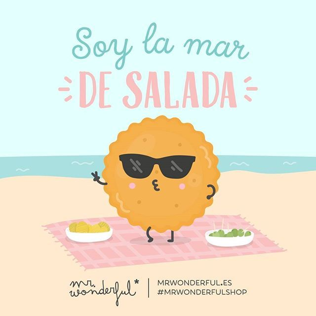 ¡Menudo arte tienes! #mrwonderfulshop I am a spicy little one. Now that is some hot talent!