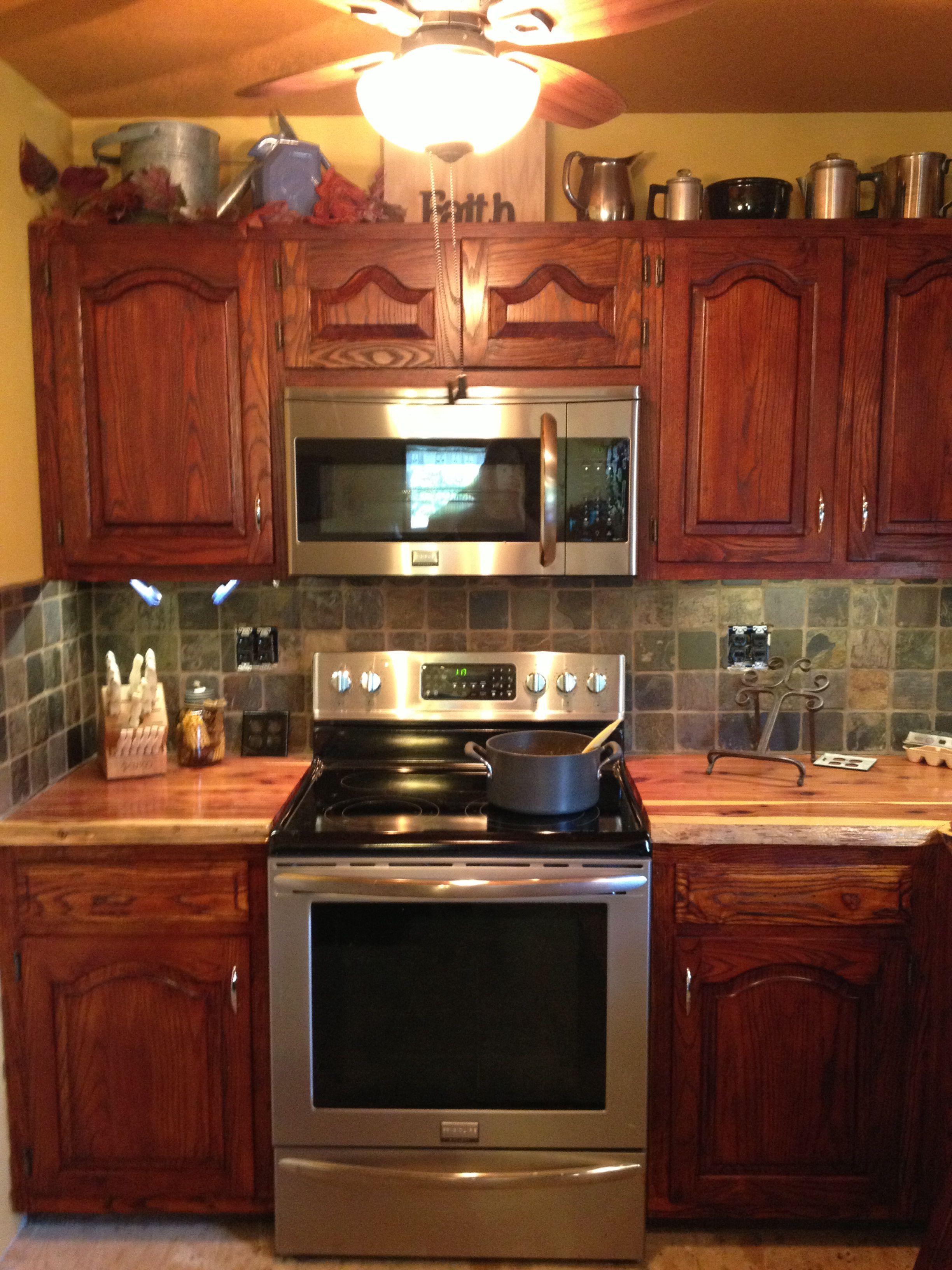 Love Love My New Red Cedar Countertops Dream Home Kitchen