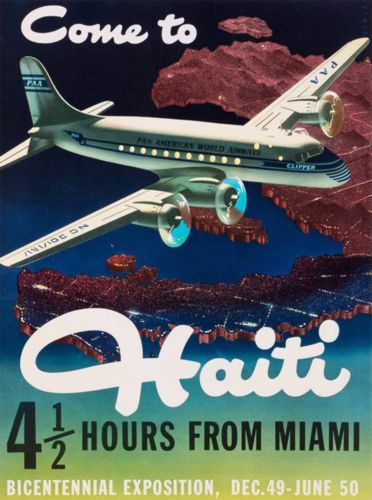Come-to-Haiti-miles-from-Miami-Caribbean-Vintage-Travel-Advertisement-Poster