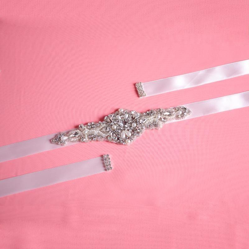 Shining Crystals Bridal Sash Hot Selling Bridal Accessory with Ribbon Tie Cheap Wedding Belt Bridal Sash Popular Bridal Belt S29 Online with $31.41/Piece on Yupan's Store | DHgate.com