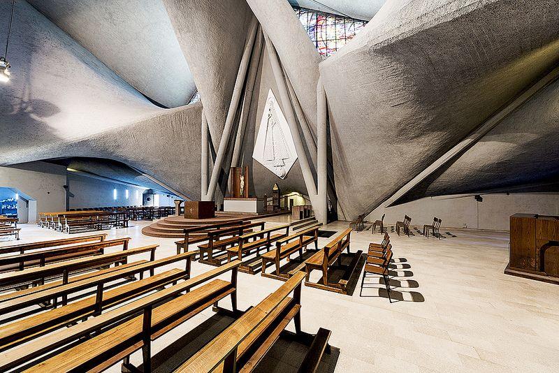 Chiesa beata vergine maria immacolata giuseppe pizzigoni 1961 1966 bergamo italy - Interior design bergamo ...