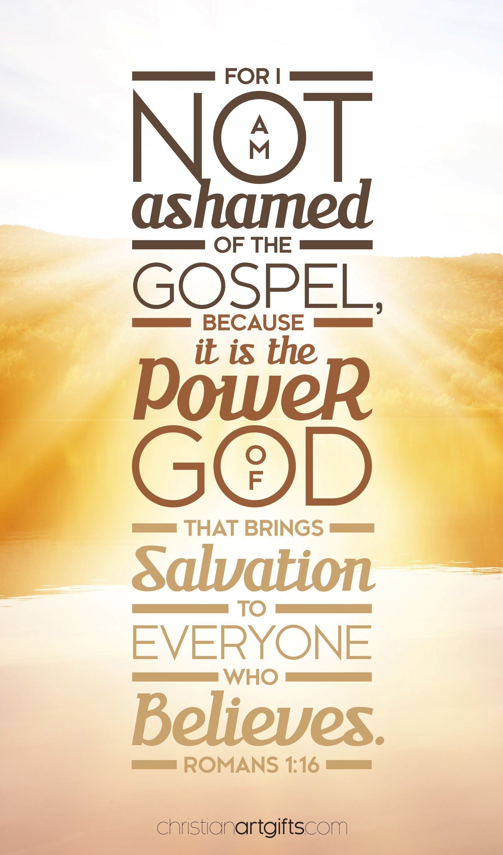 Romans 1:16 | Spiritual inspiration | Christian art gifts