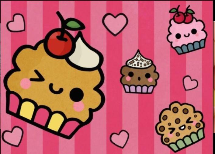 cute cupcakes cartoon