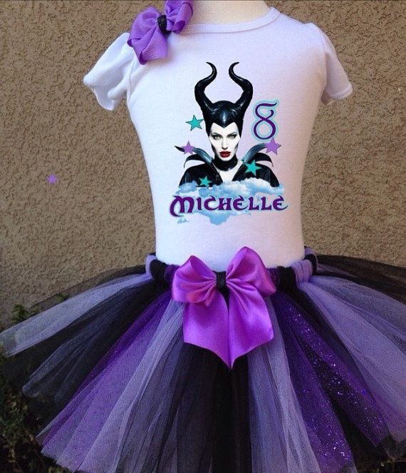 Maleficent Personalized Birthday Tshirt with by BirthdaysAndBows