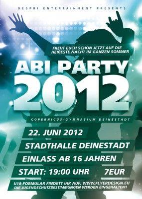 ABI PARTY Flyer Vorlage, Design inkl. Druck, F0006B | Flyer | Designvorlagen | Despri