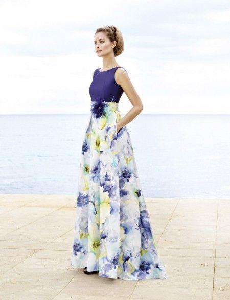 b3ff33624bb5 Vestido largo de flores | vestidos | Vestidos, Vestidos largos y ...