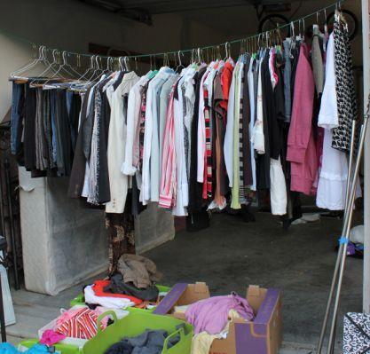 Diy Clothes Rack Garage Sale But   Garage sale   Garage sale