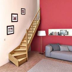 escalier tournant en h tre avec rampe tubes magasin de. Black Bedroom Furniture Sets. Home Design Ideas