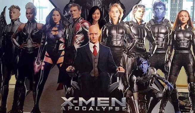 X Men Apocalypse Cast Featured In Theater Standee X Men Apocalypse Xmen Apocalypse X Men