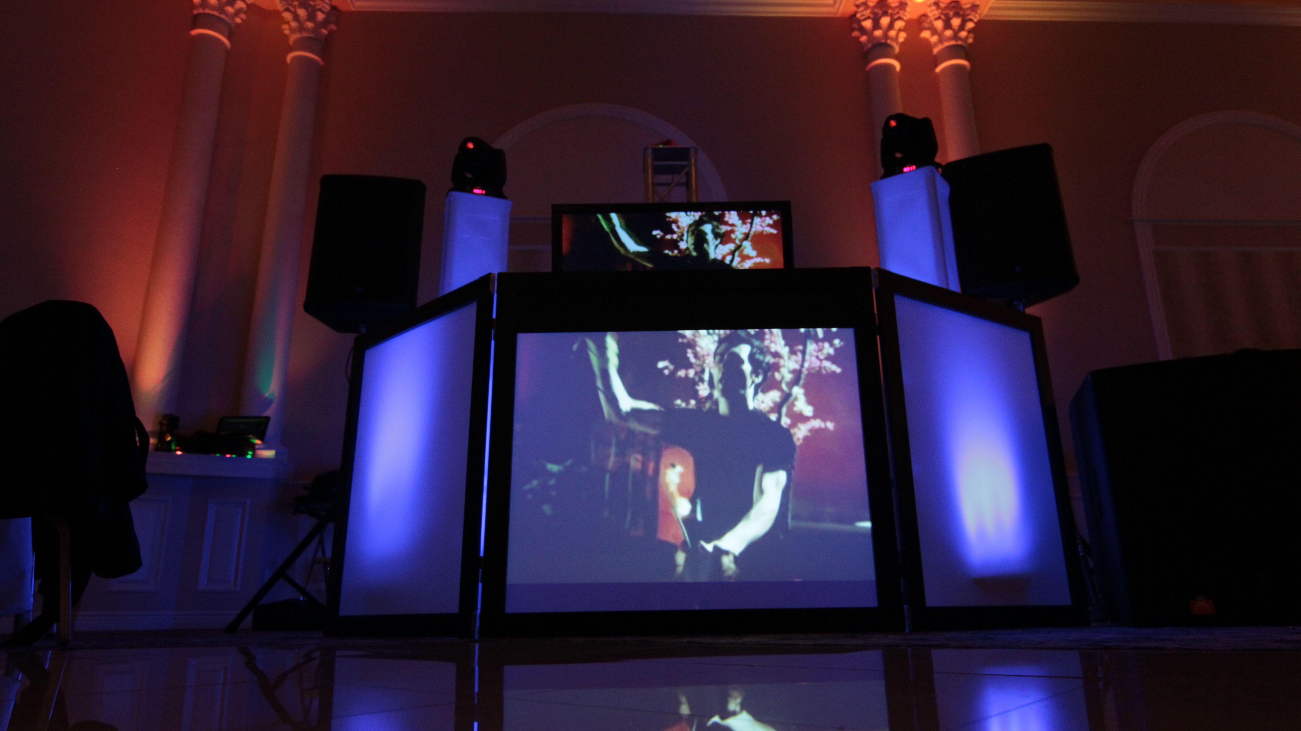 dj booth wedding corporate dj setups lighting allgenerationsdj dj booth dj equipment. Black Bedroom Furniture Sets. Home Design Ideas