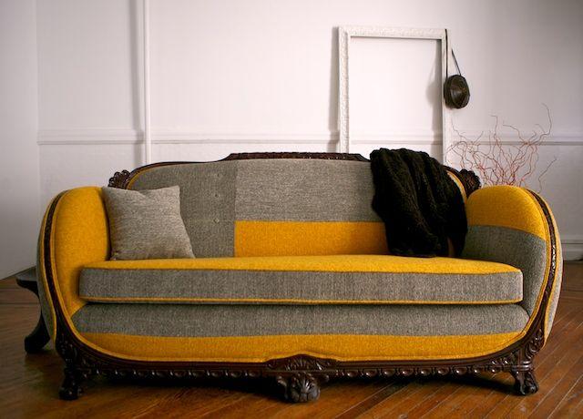 Reupholstered Antique Sofa. Divine!