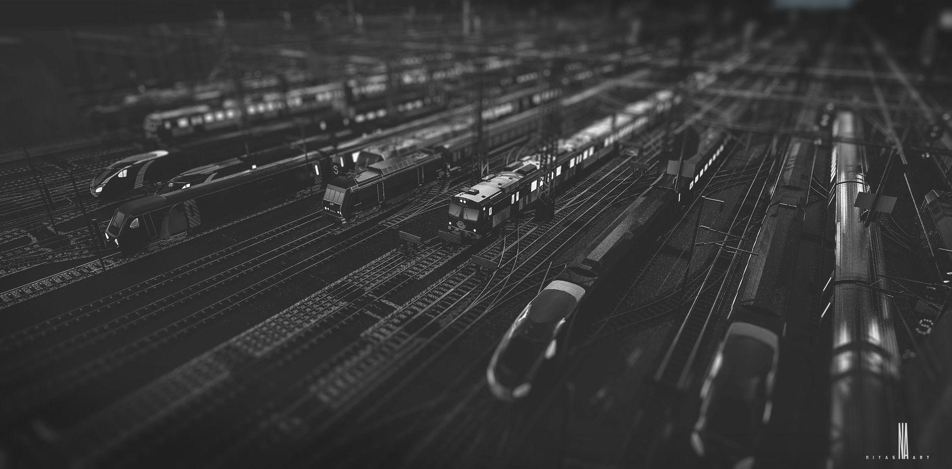 ArtStation - Train yard, niyas ck