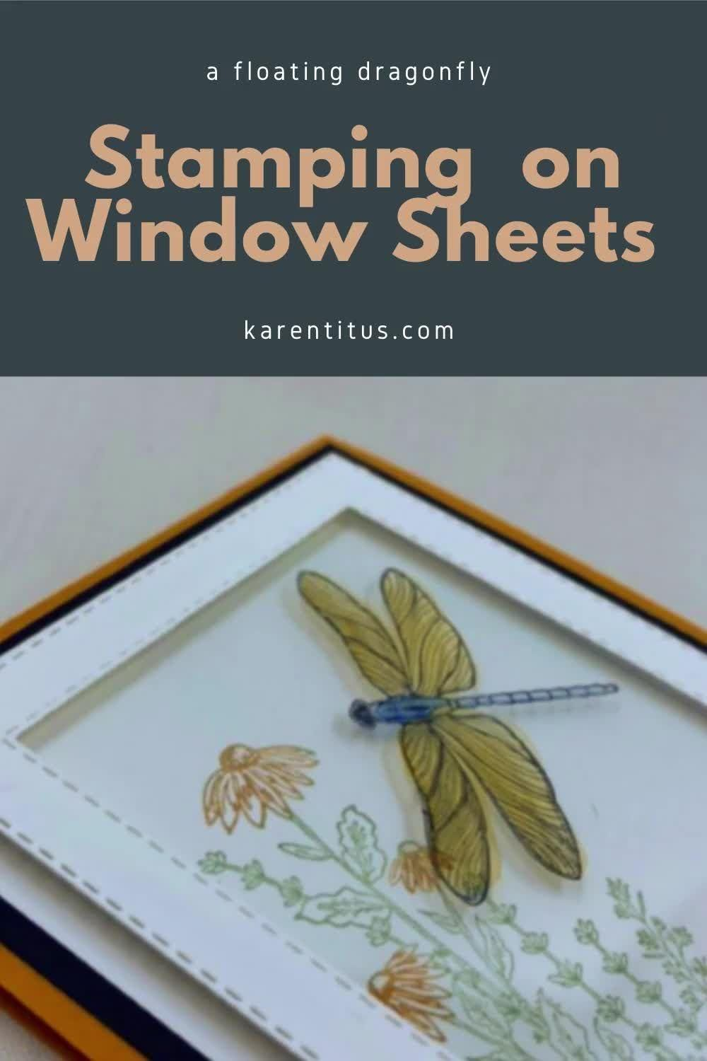 How to Stamp on Window Sheets