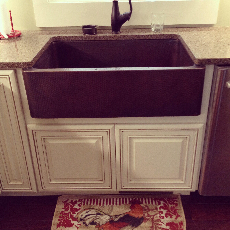 My new copper farmhouse sink! Copper farmhouse sinks