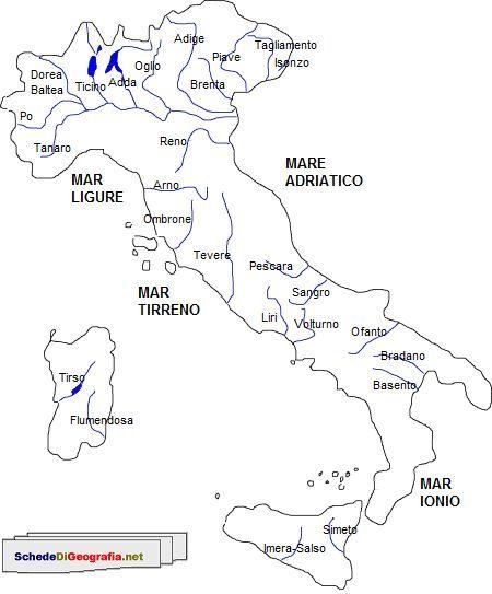 Principali fiumi italiani geografia pinterest - Foto della mappa del mondo da stampare ...