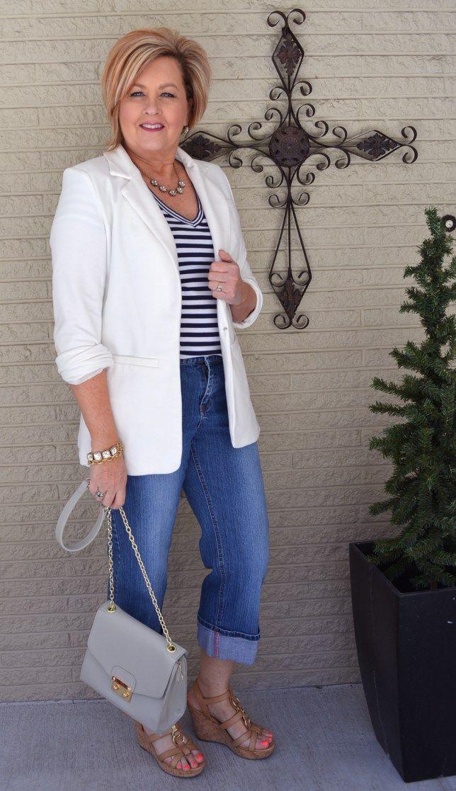 50 Is Not Old | White Boyfriend Blazer