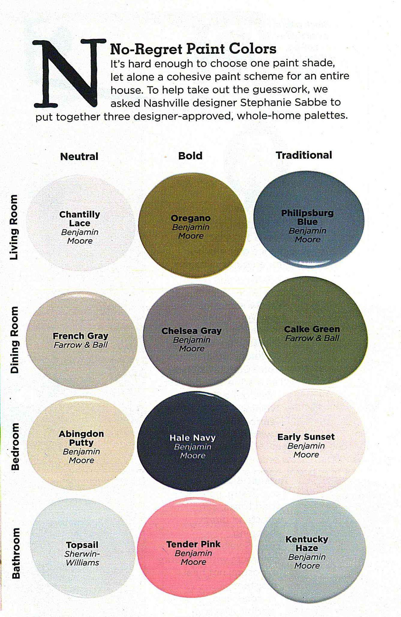 No Regret Paint Colors According To Country Living Magazine Paint Shades Paint Colors Farm Design