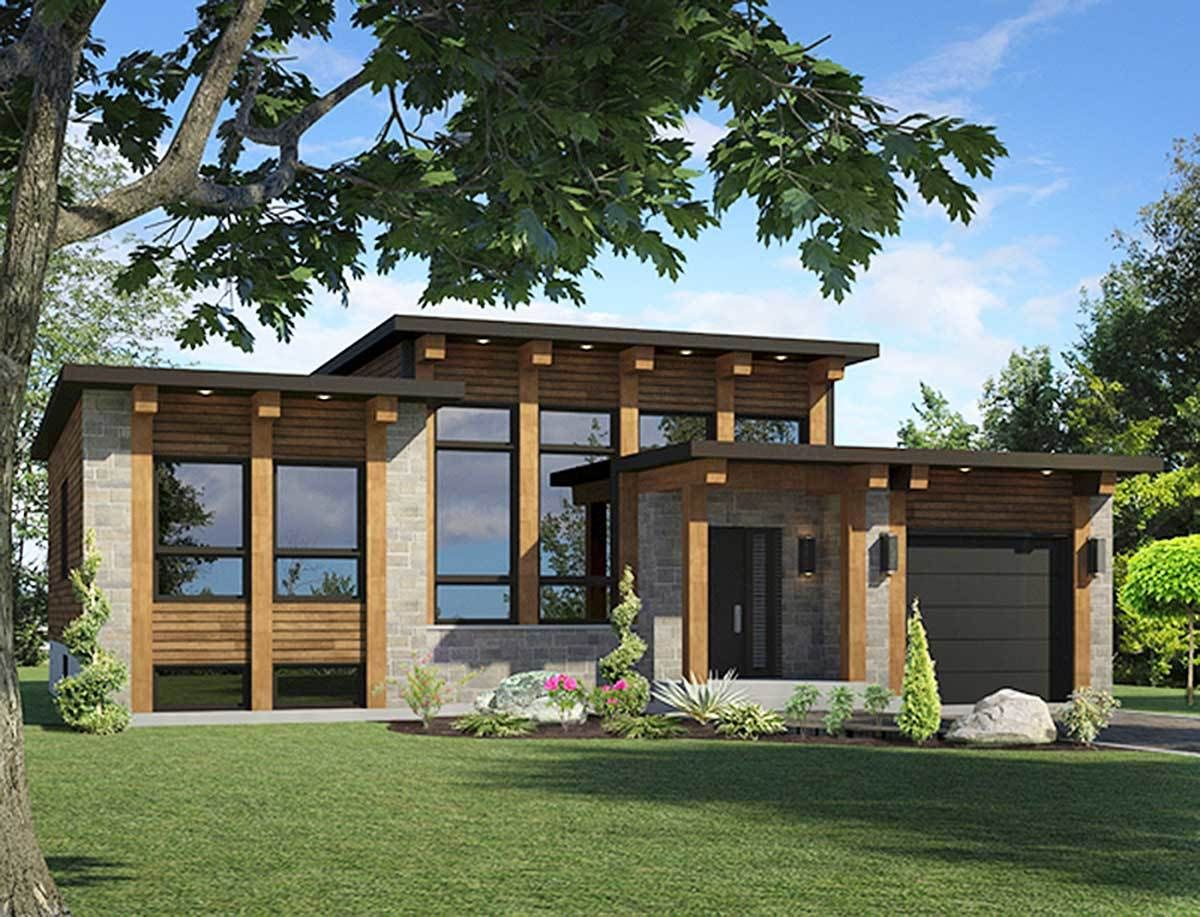 Plan 90267pd Small Scale Modern House Plan Contemporary