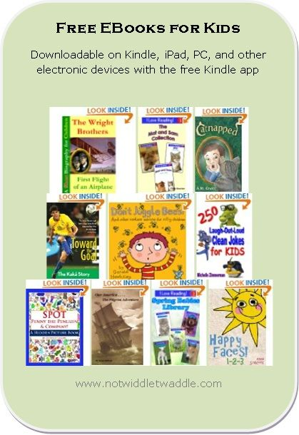Wonderful list today with a biography published by HarperCollins and a number of early readers! Free Kids' EBook list for july 24, 2012