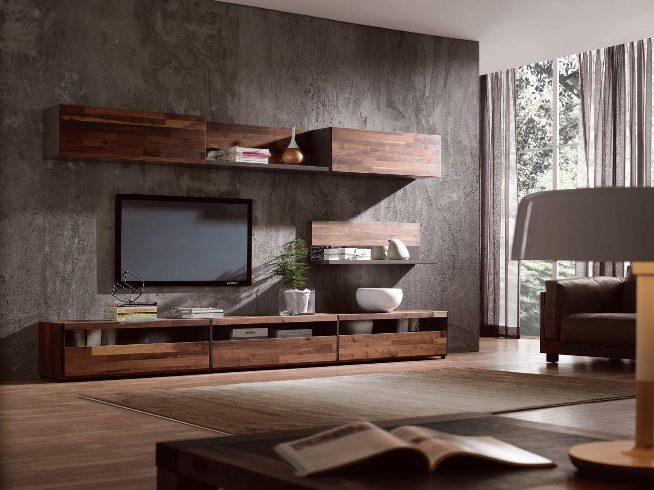 Mobili Neri ~ Parete attrezzata infinity miele nero mobili sala