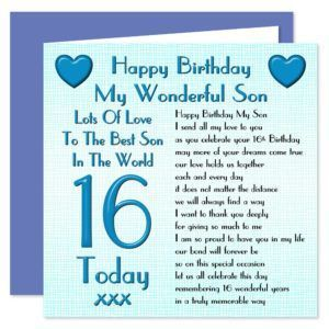 16th Birthday Images For Son Wishes Messages And Quotes