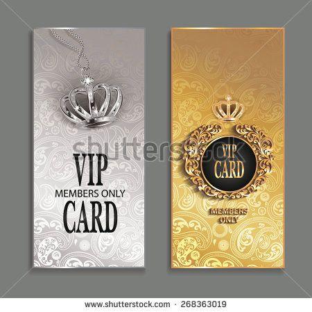 elegant invitation VIP cards with floral design - stock vector VIP - fresh invitation banner vector