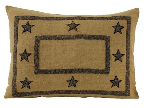 Burlap Star Standard Pillow Sham By India Home Fashions Bedrooms Best Burlap Star Decorative Pillow