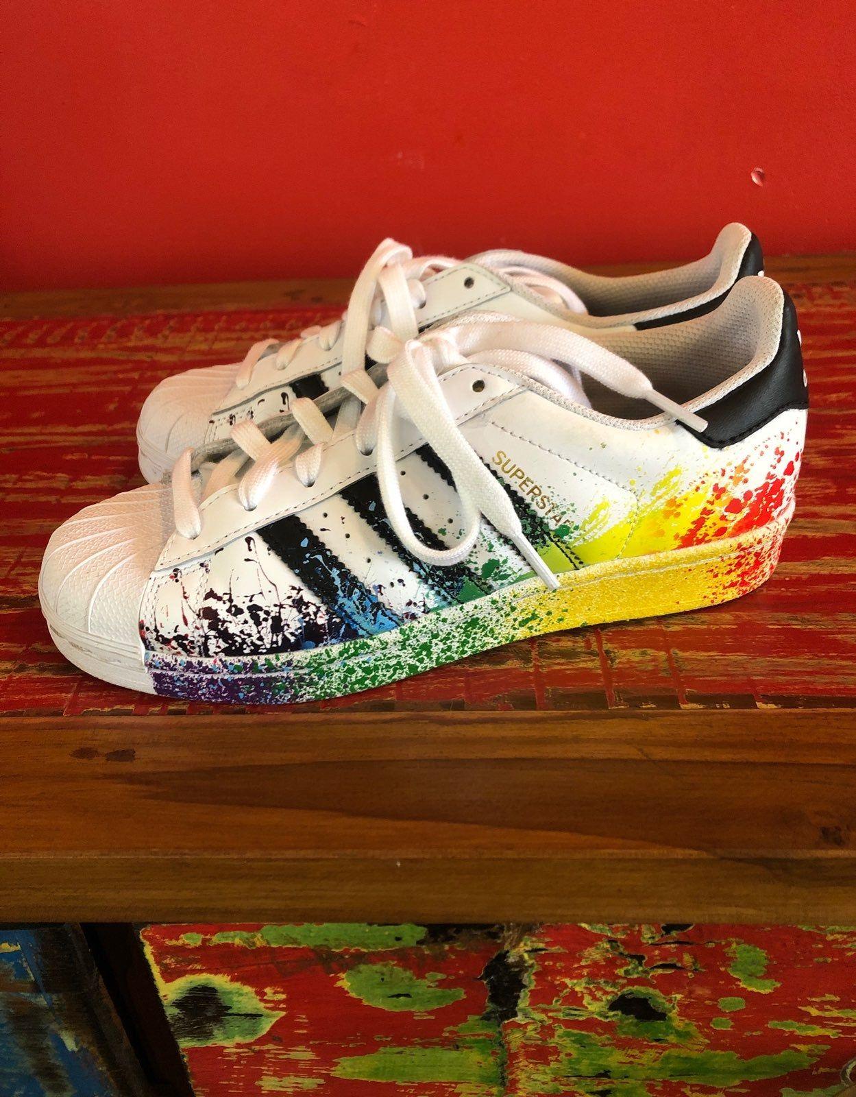adidas superstar rainbow paint slatter