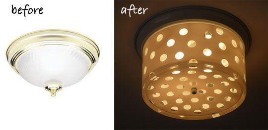 Brass Flush Mount Ceiling Light Makeover Lighting Makeover
