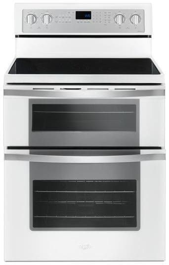 Whirlpool Wge745c0fh 30 Inch Electric Range With 5 Radiant Elements 6 7 Cu Ft True Convection Oven Frozen Bake Technology Flexheat Triple Radiant Element Double Oven Range Gas Range Double Oven Freestanding Double Oven