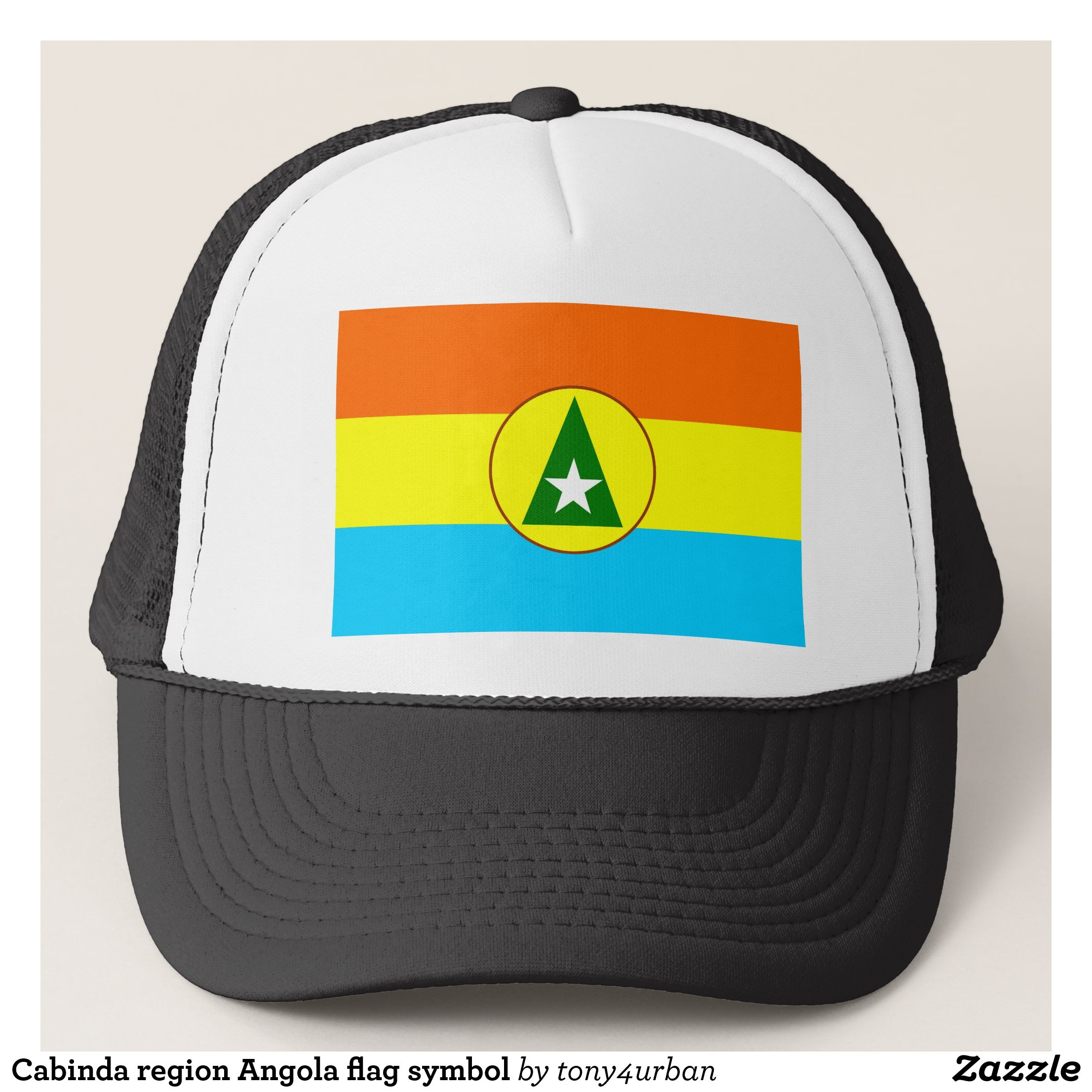 Cabinda Region Angola Flag Symbol Trucker Hat Urban Hunter Fisher