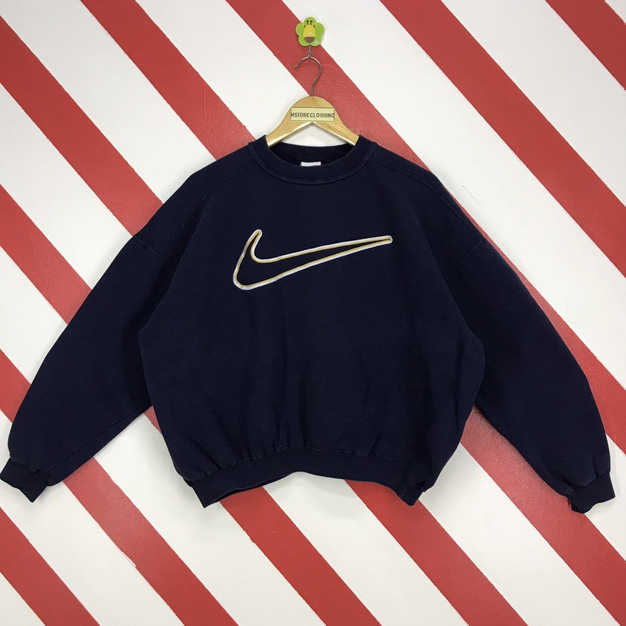 Excited To Share This Item From My Etsy Shop Vintage 90s Nike Sweatshirt Crewneck Nike Swoosh Sweate Retro Outfits Nike Sweatshirts Vintage Sweatshirt Outfit [ 1242 x 1242 Pixel ]