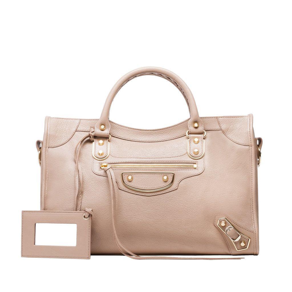 2dd83850fdc2 BALENCIAGA Classic Metallic Edge City Bag, Beige Praline. #balenciaga #bags  #leather #lining #metallic #shoulder bags #hand bags #cotton # | Balenciaga  ...