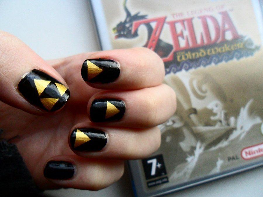 Zelda Nail Art By Ras Blackfire On Deviantart Cool To Maybe Put