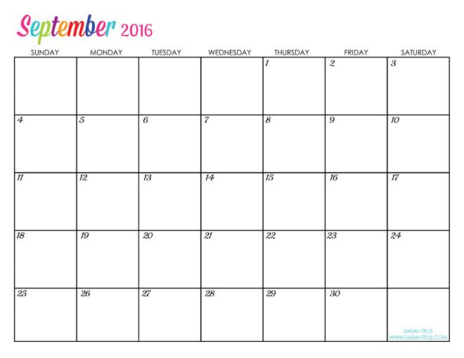 custom editable free printable 2016 calendars sarah titus other