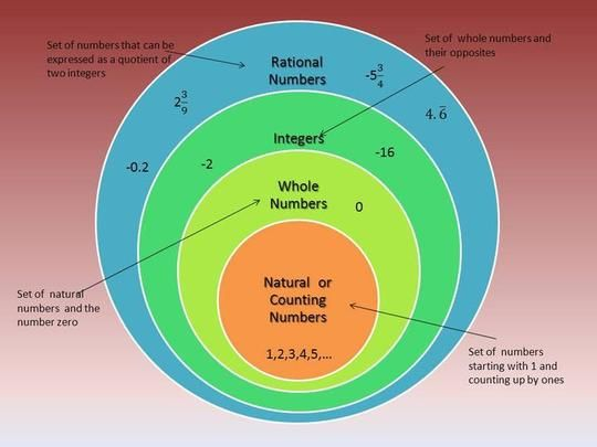 Rational Numbers Diagram Rational Numbers Middle School Math Resources Interactive Math Journals