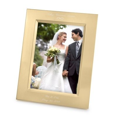 c463aa89a93 Engraved Frame   Vera Wang Gold Satin 5x7 Frame - Things Remembered ...