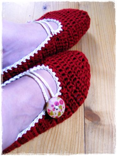 Fizule71: Háčkované balerínky  (crochet ballerina slippers)