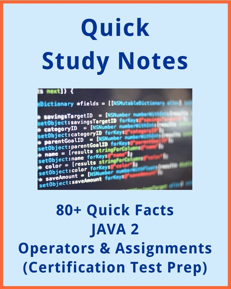 quick facts java operators and assignments java 80 must know facts for all java developers regarding operators and assignments use this