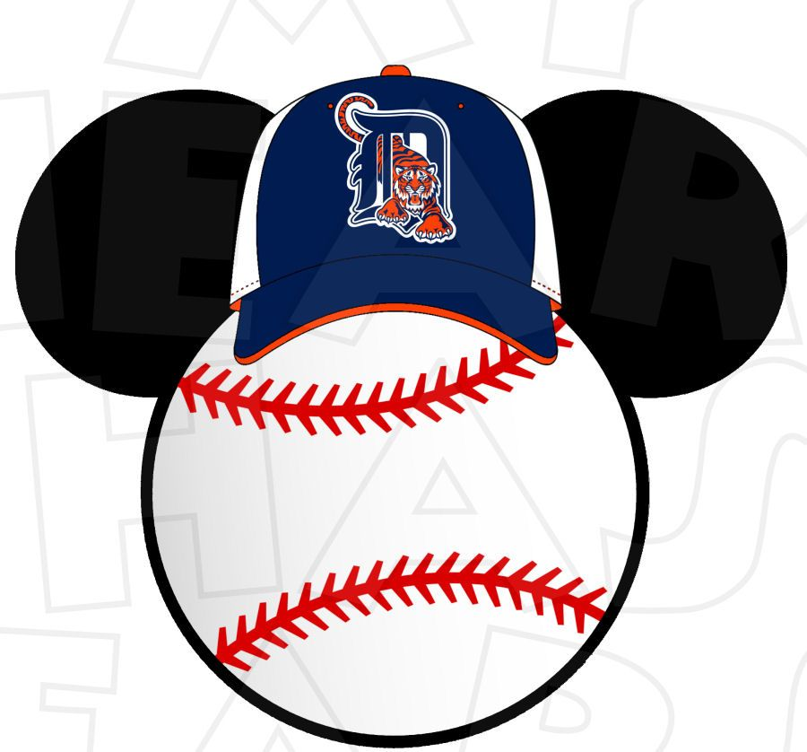 detroit tigers baseball with mickey mouse instant download digital rh pinterest com