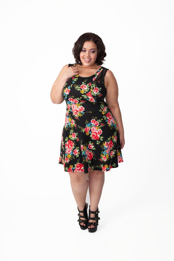 #50Limes floral #skater dress. #plussize