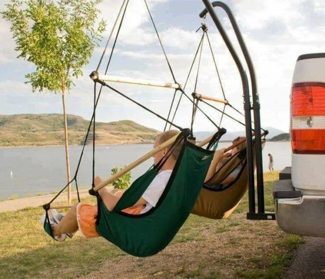 Trailer Hitch Chair Hammock Auto Camping Camping Hacks Autocamping