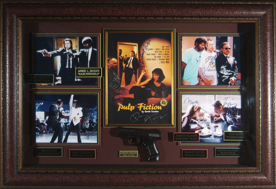 Pulp Fiction Movie Memorabilia Disney Artwork Pulp Fiction Cast Pulp Fiction