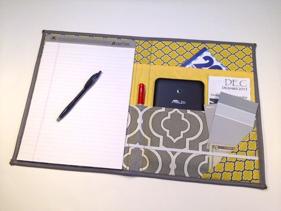 For those of us who still love paper and pencil, heres a stylish way to take notes.  Features youll enjoy:  Fits legal pad 8 1/2 x 11 3/4.