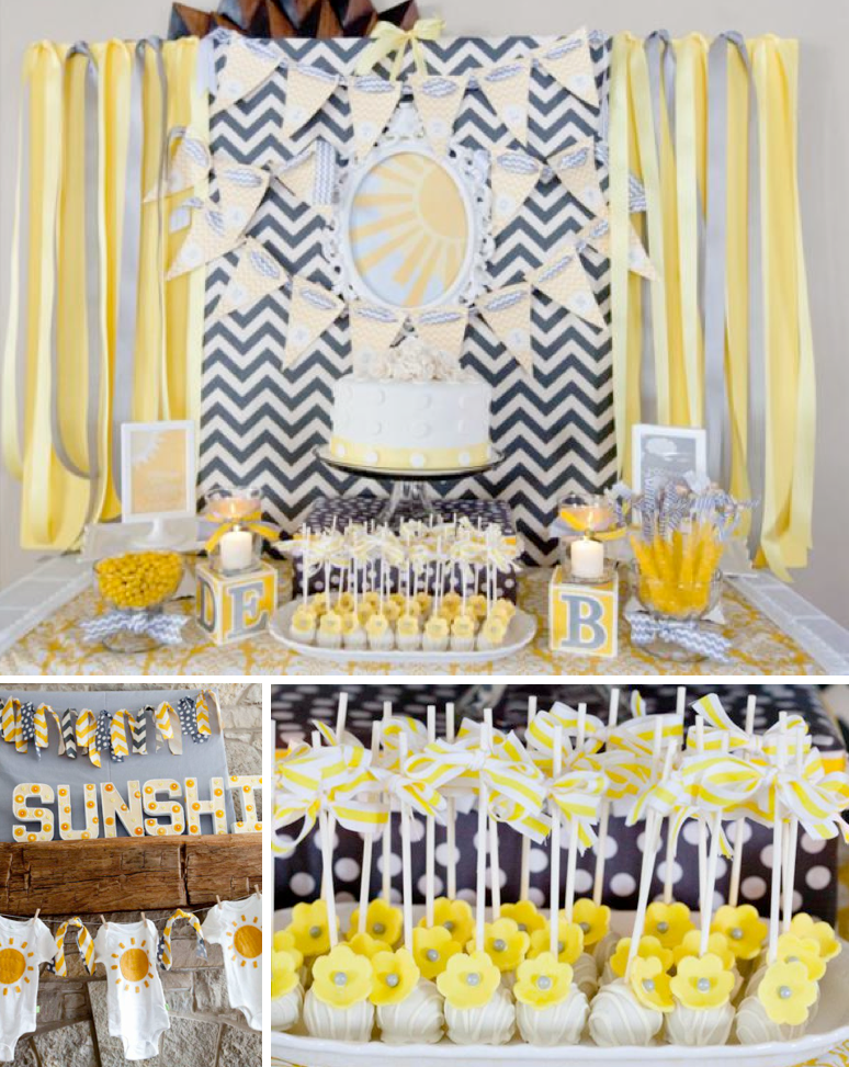 The perfect gender neutral baby shower full of creative for Baby shower modern decoration