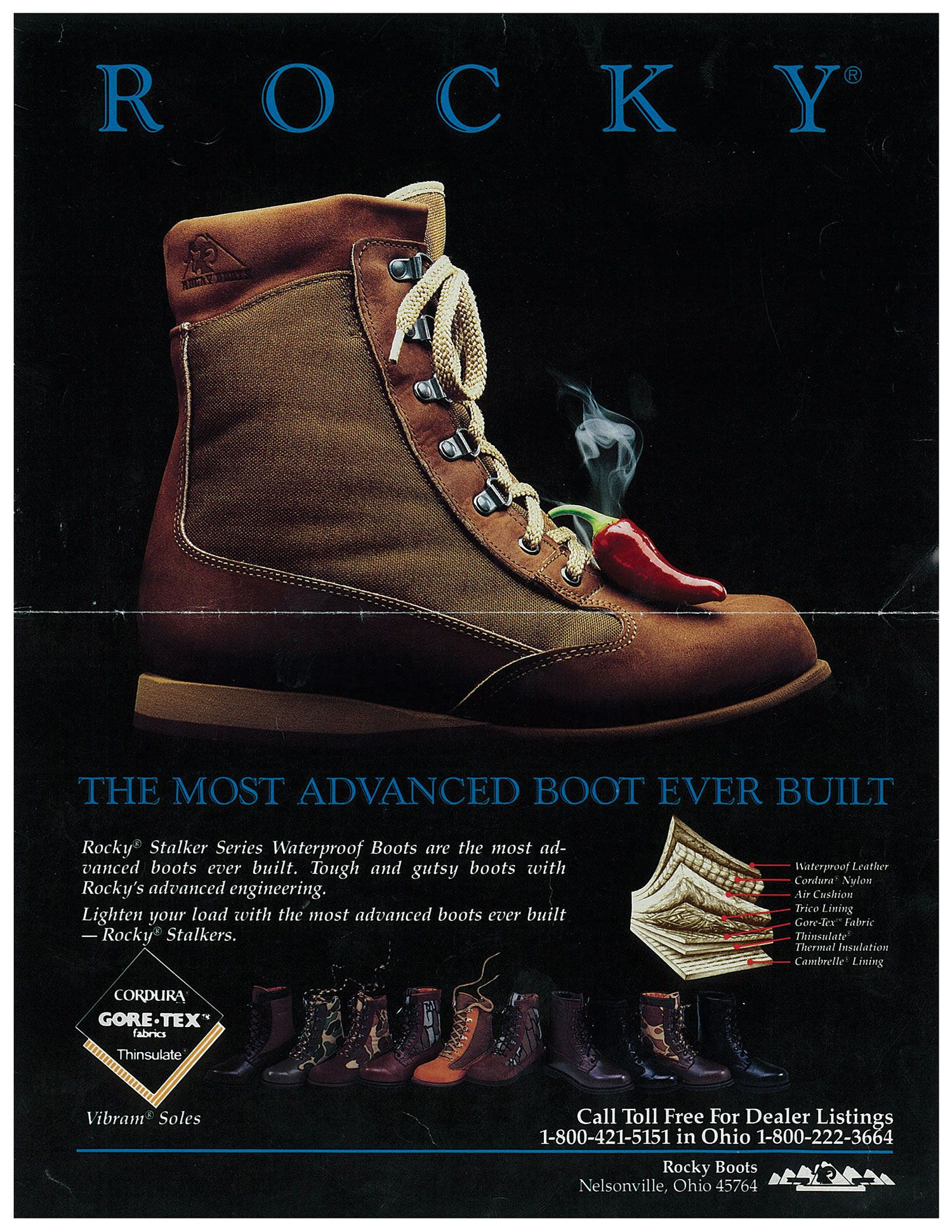Vintage Rocky Boots Poster
