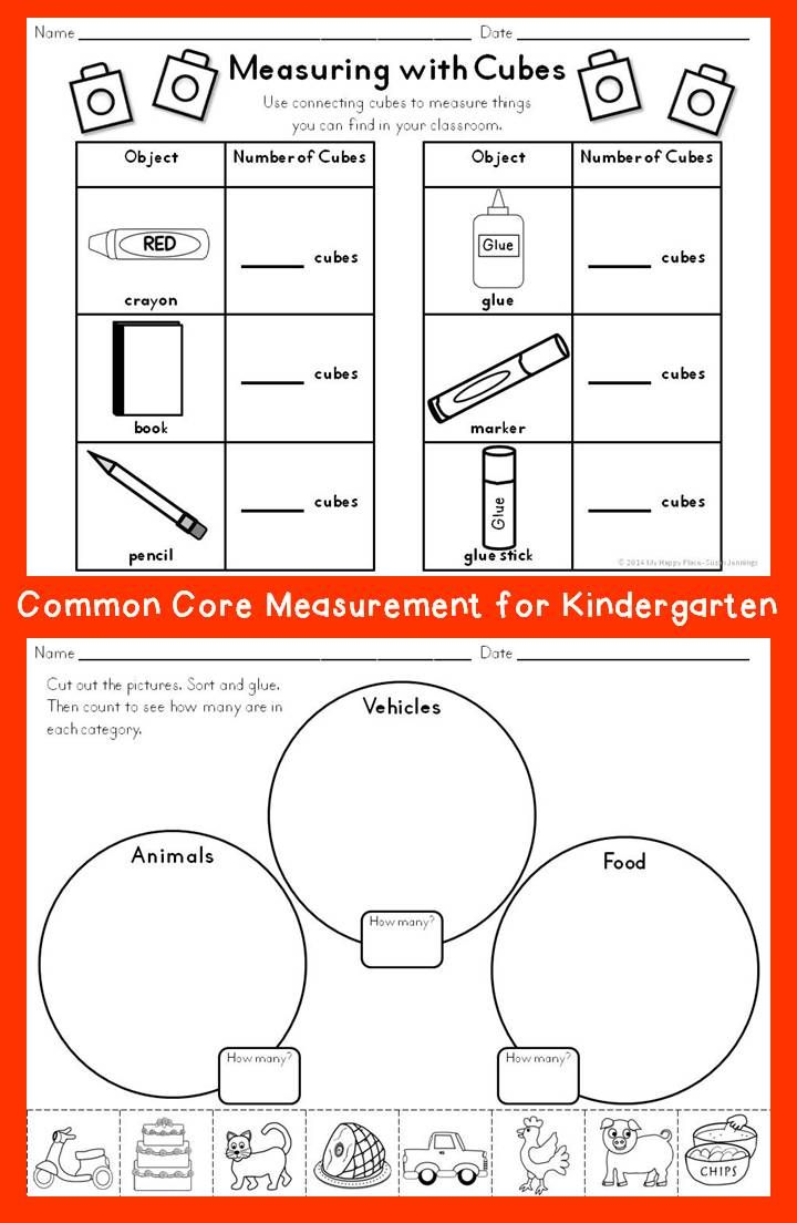 measurement activities best kindergarten math anchor charts and common cores ideas. Black Bedroom Furniture Sets. Home Design Ideas